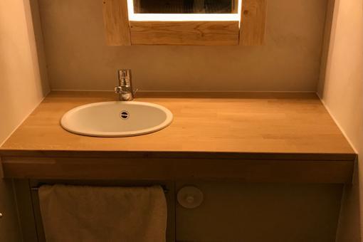 plan travail salle de bain