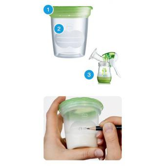 pot de conservation lait maternel